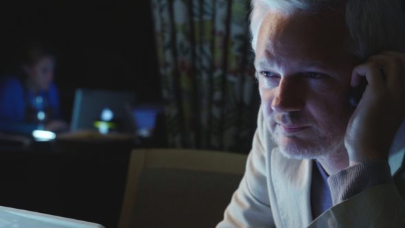 Julian Assange and Sarah Harrison in Risk
